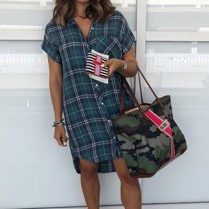Plaid dress size xs